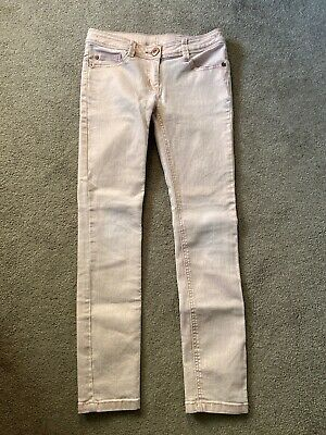 Next Girls Pink Shimmer Skinny Jeans Age 11 Height 146 Cm