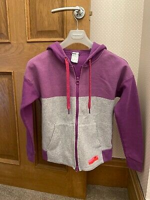 Adidas Stella Sport McCartney Purple/Grey Sports Hoodie 2XS UK 0-2 Girls Ladies