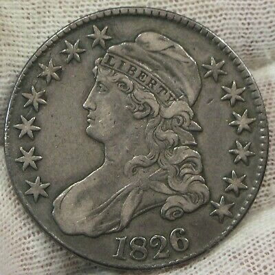 1826 Capped Bust Silver Half Dollar  50c   #021526