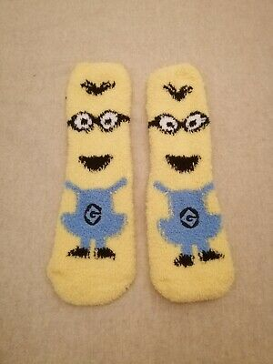 Minion Fluffy Bed Socks