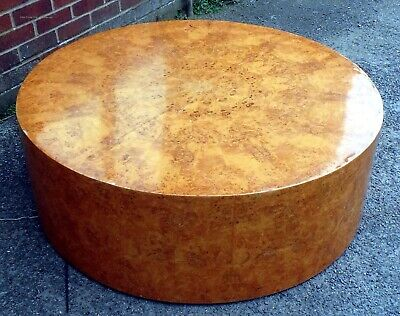 Art Deco antique radial burr walnut cylinder coffee occasional side lamp table