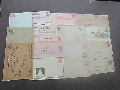GERMANY - VINTAGE COLLECTION OF POSTAL STATIONERY/COVERS - 1870s/1930s