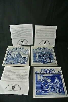 Burroughs Wellcome Co Pharmacy Pill Tiles - 3 different Images - Delfts Holland