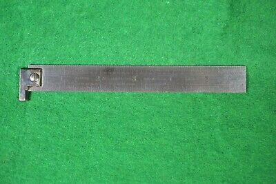 "Starrett 604R 6"" Hook Rule  Tempered"