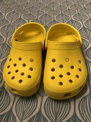 Crocs Kids Toddler Classic Caymen Lemon Yellow C9