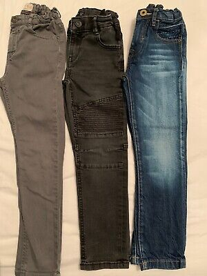 Boys Zara And Mango Bundle 3 Pairs Skinny Fit Age 6 Jeans Denim Grey Black