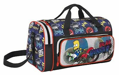 The Simpsons Boys Men Travel Bag Duffel Holdall Gym Weekend Holiday Bag New BNWT