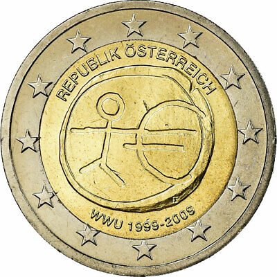 [#771535] Austria, 2 Euro, 10th Anniversary - European Monetary Union, 2009, EBC