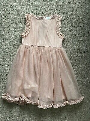 Girls Age 3-4 Years Pink Party Dress ~ Next ~ Excellent Condition ~ Sparkly!