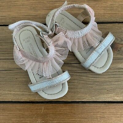 SANDALS Infant 4 MONSOON Baby Girl Shoes VGC
