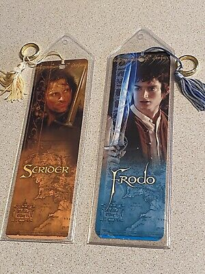 LORD OF THE RINGS BOOK MARKERS BOOKMARKS - Tassels And Ring
