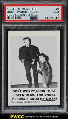 1964 The Munsters Don't Worry, Eddie. Just Listen To Me #9 PSA 7 NRMT (PWCC)