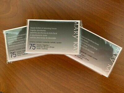 Mary Kay Beauty Blotters Oil-Absorbing Tissues- Lot of 7 (75 Tissues Per Pack)