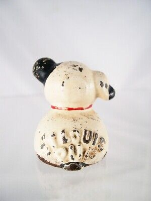 1920-30s cast iron Fido advertising paperweight puppy dog St. Louis Pup