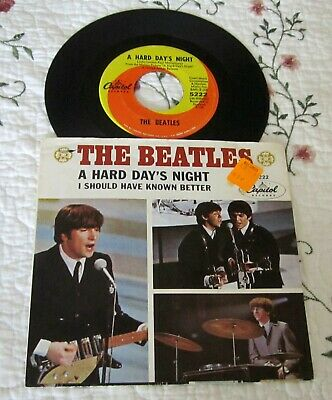 The Beatles-A Hard Day's Night/I Should Have Known Better-Vinyl 45 w/Pic Sleeve
