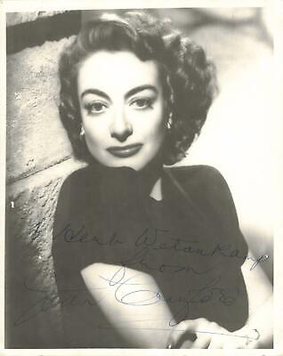 8 x 10 Joan Crawford Signed Autograph Photo Autographed