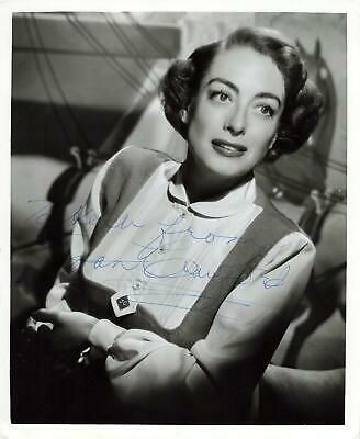 8 x 10 Joan Crawford Signed Autograph Glossy Photo Autographed