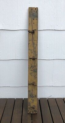 Antique Coat Hat Rack Hanger with 4 cast iron hooks wood coat rack farmhouse old