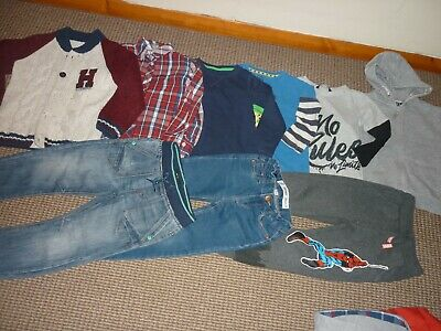 Bundle Boys Clothes age 4-5yrs Hoodie Jeans Tops Joggers Shirt  Chunky Cardi