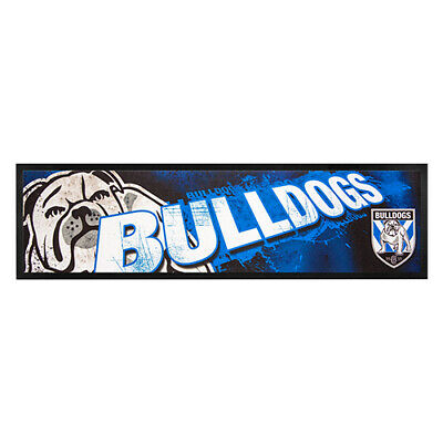 NRL CANTERBURY-BANKSTOWN BULLDOGS RUGBY RUBBER BACKED BAR RUNNER 90cm x 25cm