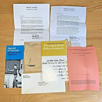 1967 PEACE CORPS APPLICATION Packet & INFORMATION 7 Items