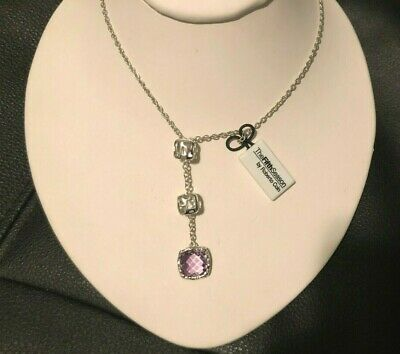 Roberto Coin Pendant Necklace Sterling Silver Amethyst New $1,600