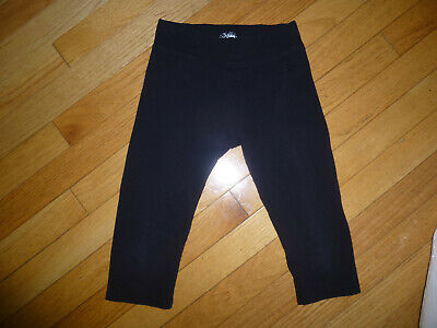 JUSTICE YOUTH GIRLS LEGGINGS SIZE  10 BLack cropped