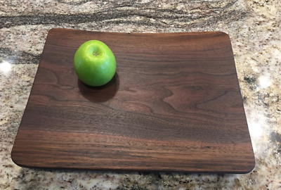 "American Walnut Live Edge Cutting Board 15""x11-3/4""x 2"""
