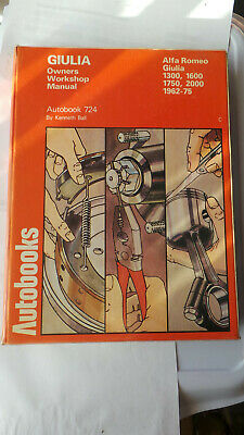 ALFA ROMEO GUILIA Ti GT JUNIOR SPRINT GTV SPYDER DUETTO VELOCE WORKSHOP MANUAL