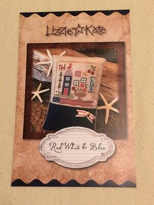 Red White & Blue Cross Stitch Kit by Lizzie Kate