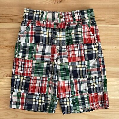 JANIE AND JACK Scenic Harbor Plaid Patchwork Shorts Size 6