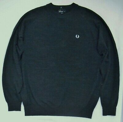 AUTH Fred Perry Men/'s Y-Neck Sweater XL