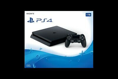 Sony PlayStation 4 Slim 1TB Console - Jet Black with 3 games
