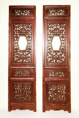 Antique Chinese Screen Panels (2976)(Pair); Cunninghamia Wood, Circa 1800-1849
