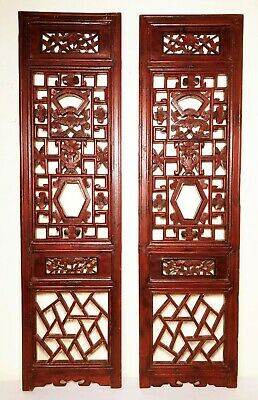 Antique Chinese Screen Panels (2975)(Pair); Cunninghamia Wood, Circa 1800-1849