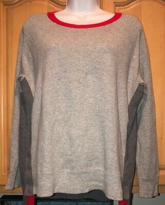 Gently Used Women's J CREW Brand Grey Cotton Knit SWEATER, Size Small