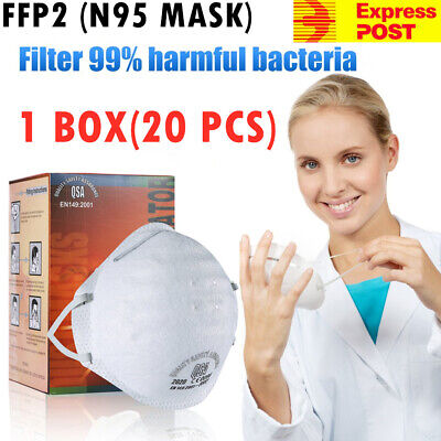 FFP2 N95 Particulate Respirator Mask,1 Box Of 20 MASKS * Free Express Delivery *