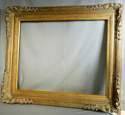 MASSIVE Vintage Carved Gilt Wood Florentine Picture Frame 22x28 Custom Corner