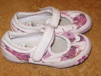 Clarks Doodles Kids Girls Toddlers Canvas Flower Pink Mary-jane Shoes Sz 7.5