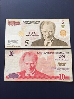 Turkish Lira Various Denomination Bank Notes. Ideal For An Avid Note Collector