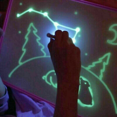 Draw With Light Fun And Developing Toy UV Luminous Pen Drawing Board Gift Kids