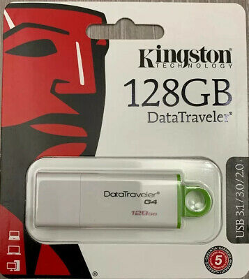 Kingston USB Memory Stick 128GB 3.1 / 3.0 / 2.0 Data Traveler G4 Flash Pen Drive