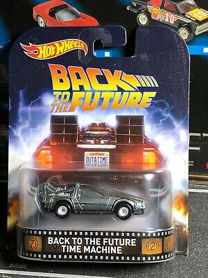 Hot Wheels Back to the Future Delorean DMC Time Machine BTTF - New Sealed XHTF