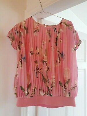 Ted Baker Girls Pink Floral top Age 13