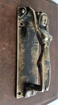Vintage Style Brass Door Knocker Nude Lady Door Pull Nude Girl Knocker