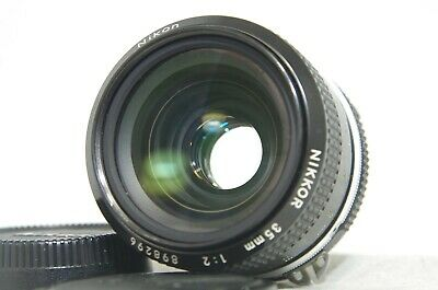 Nikon NIKKOR 35mm f/2 Ai MF Wide Angle Prime Lens SN898296 from Japan
