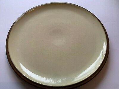 1 Number Denby 10.5 Inch Dinner Plate. Brown and White