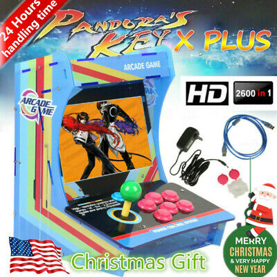 US 2600Game in 1 Pandora's Box Single Stick Retro Arcade Game Console HDMI 10.4""
