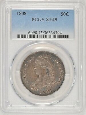 1808 Capped Bust Half Dollar O-110 R5 EDS TOP POP! PCGS XF45 #BBV12