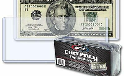 10 loose  BCW 6.5 x 3 Currency Dollar Bill Topload Holder Storage Protection